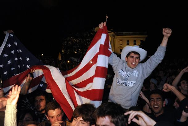 Hundreds-celebrate-death-of-Osama-bin-Laden-in-Washington