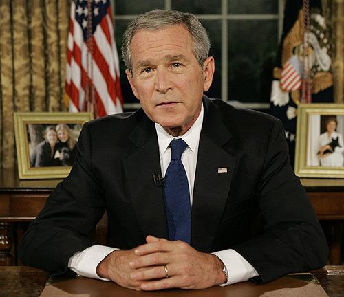 Bush medgav fel om invasionen i irak