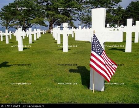 tombstone-andra-varldskriget-kyrkogard-normandie-landningar-flagga-usa-frankrike_467649