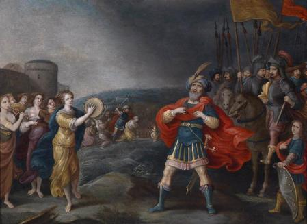 Hieronymus-Francken-The-Victorious-General-Jephta-Meeting-His-Daughter