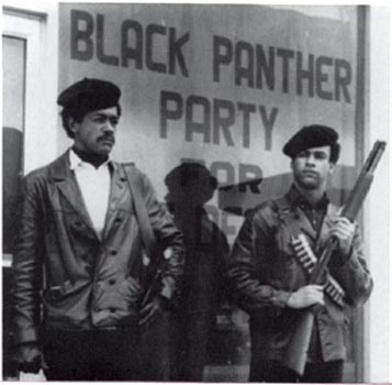 Black-Panther-Party-armed-guards-in-street-shotguns