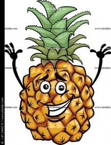 rolig-tecknad-ananas-frukt_1046271