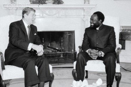 President Reagan With Jonas Savimbi