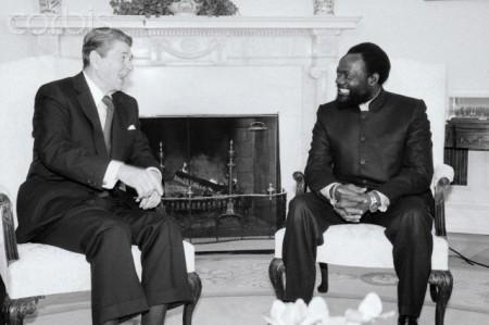 President Reagan With Jonas Savimbi