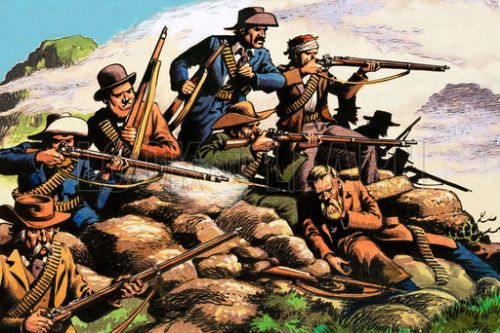 The battle of Majuba Hill, First Boer War