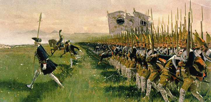 Hohenfriedeberg_Attack_of__Prussian_Infantry_1745
