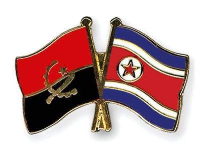 Freundschaftspins-Angola-Nordkorea