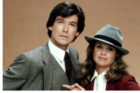REMINGTON STEELE, Pierce Brosnan, Stephanie Zimbalist, 1982-87, photo: Robert Phillips / Everett Collection