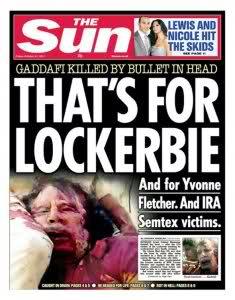 Gaddafi hyllar skotskt mod