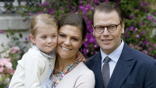 OLAND, SWEDEN - JULY 14: Princess Estelle of Sweden; Crown Princess Victoria of Sweden and Prince Daniel of Sweden attend the 38th Birthday celebrations of Crown Princess Victoria of Sweden on July 14, 2015 in Oland, Sweden. (Photo by Luca Teuchmann/Getty Images)