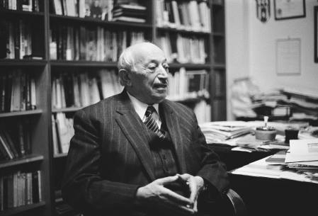 Simon Wiesenthal - portrait of the Austro-Hungarian famous for gathering information about Nazi war criminals, Vienna, 1988. Born 31 December 1908.
