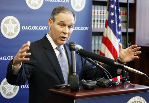 MORTGAGE SETTLEMENT: Oklahoma Attorney General E. Scott Pruitt speaks to reporters about the settlement reached by his office with various home mortgage lenders, during a press conference at his office in Oklahoma City, OK, Thursday, Feb. 9, 2012. By Paul Hellstern, The Oklahoman